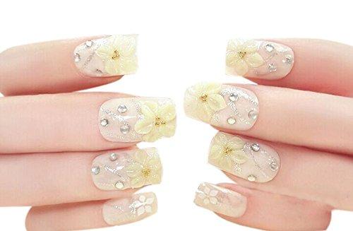 22 pièce wedding cristal Style Design / bricolage 3D faux ongles, couleur nude