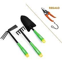 Best Purchase Set de herramientas de jardín   Herramientas de jardinería   Herramientas para jardín   Set juego herramientas de jardín 3 piezas   Tijera de podar de regalo