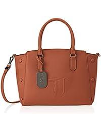 Trussardi Jeans Melissa Tote Medium Bag Covered Studs, Borsa Donna, 21x24x13.5 cm (W x H x L)