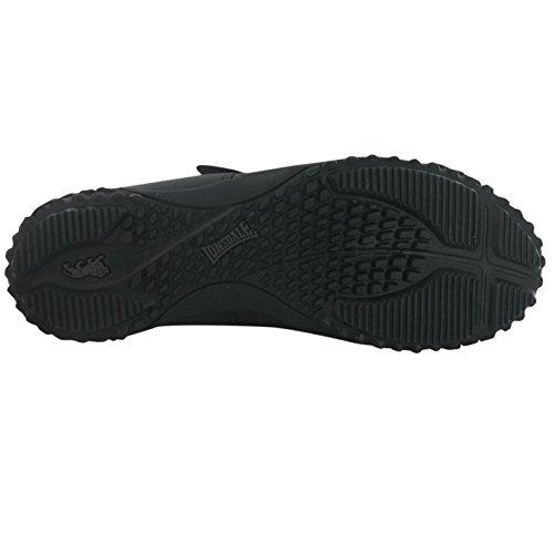 LONSDALE Baskets pour hommes Baskets Chaussures De Formateurs Sports et loisirs Neuf FULHAM Noir (black)