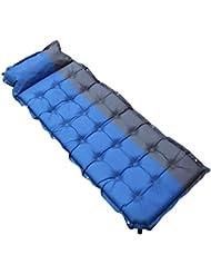 Cojín Inflable Automático Splicing Individual Espesamiento Colchón Al Aire Libre Moisture-prueba Cama De Aire 190 * 60 * 5cm ( Color : Azul )