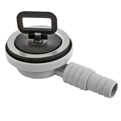 Bonde inox Ø 55 mm avec sortie tuyau de 20/25 mm, 90 ° Tuyau d'écoulement