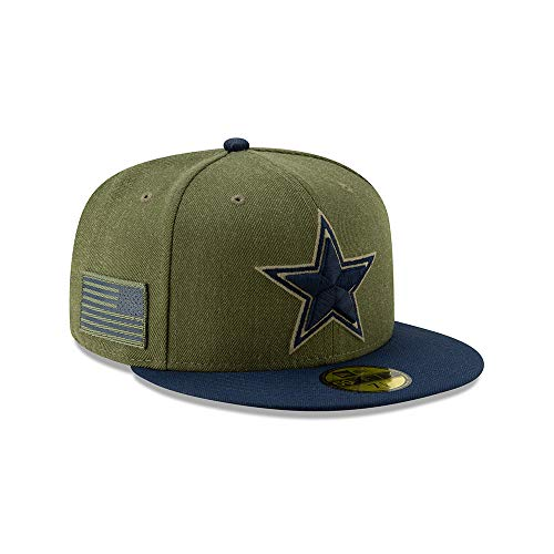 New Era Dallas Cowboys On Field 18 Salute to Service Cap 59fifty 5950 Fitted Limited Edition