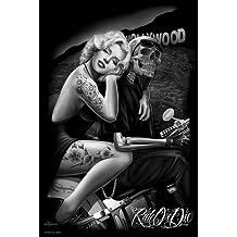 (24x36) David Gonzales Art - Hollywood Homegirl Poster by Poster Revolution