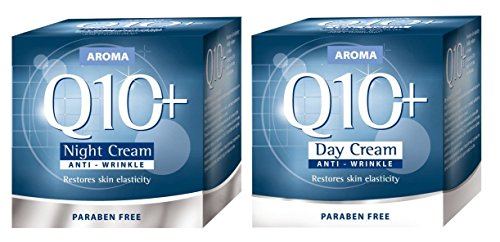 Aroma Set - Day Cream and Night Cream with Q10 and L-Carnitine - For skin with visible signs of aging. Restores skin elasticity! by Aroma