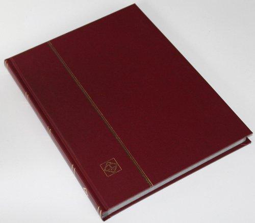 Preisvergleich Produktbild 32 schwarze Seiten LEUCHTTURM Einsteckbuch Briefmarkenalbum Einband weinrot