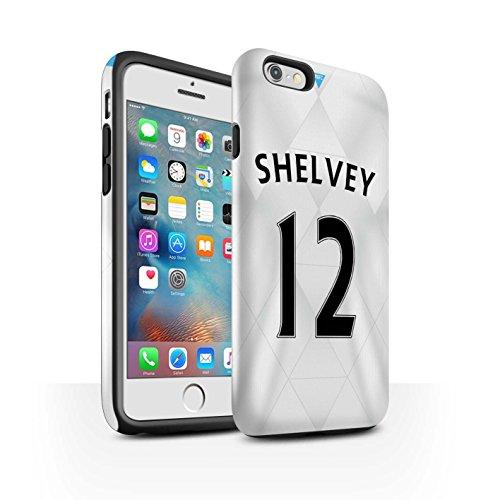 Offiziell Newcastle United FC Hülle / Glanz Harten Stoßfest Case für Apple iPhone 6S+/Plus / Pack 29pcs Muster / NUFC Trikot Away 15/16 Kollektion Shelvey