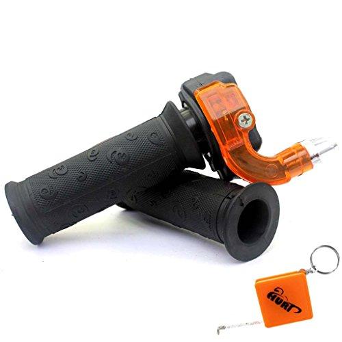 HURI Dreh Gas Griff / Drehgas Griff Set Typ4 - Dirt Bike / Monkey / DAX / Pit Bike / Pocket Bike / Midi Bike / ATV / Quad