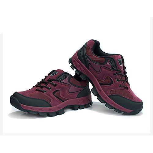 CHT Automne Et D'hiver Amateurs De Plein Air De Randonnée Alpinisme Chaussures Hommes Taille Multi-codes Rouge Vert Brun Gris En Option Red-women-44