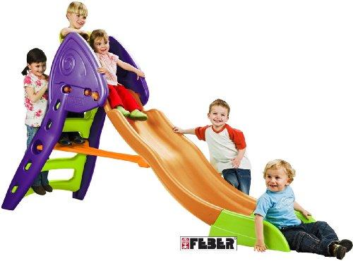Imagen principal de Feber outdoor Mega Slide XXL - Tobogán plegable de grandes dimensiones con pasamanos y rampa envolvente (253 x 80 x 140 cm) (Famosa)