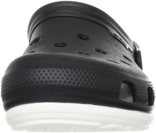 Crocs Duet Unisex - Erwachsene Clogs - 11001 Black/White