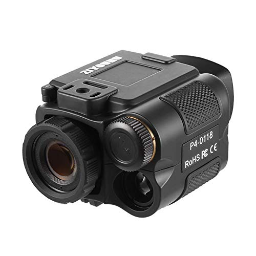 JYXZ Télescope de Chasse Monoculaire de Vision Nocturne Infrarouge Jumelle Rechargeable Vidéo Photographique avec Zoom numérique 1-5X et Filtre, Black