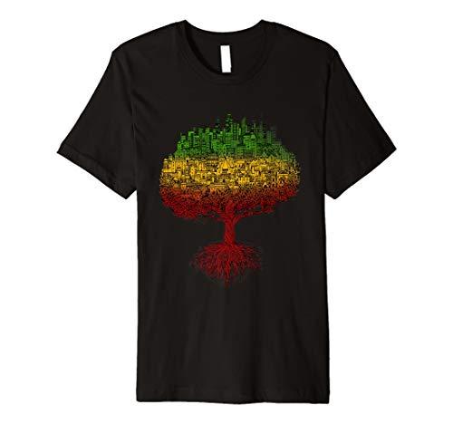 City Roots RASTA REGGAE Roots Kleidung T Shirt Tee Jamaika