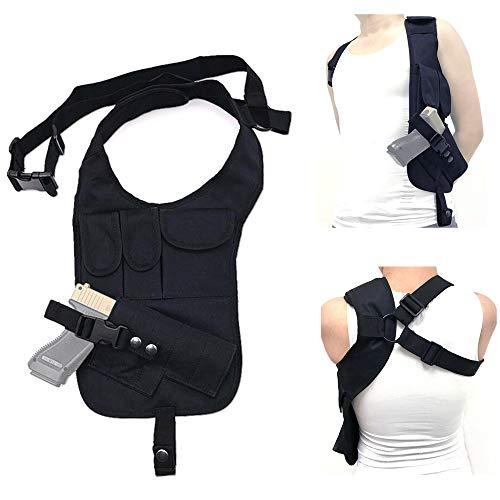 FIRECLUB Outdoor Multi-Function Tactical Pistol Hidden Gun Holster Hiking Shoulder Helmet Single Shoulder Bag Hunting Bag -
