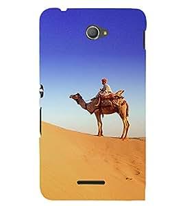 ifasho Designer Back Case Cover for Sony Xperia E4 :: Sony Xperia E4 Dual (Desert Bike Desert Cooler Pump Desert Animal Toys)