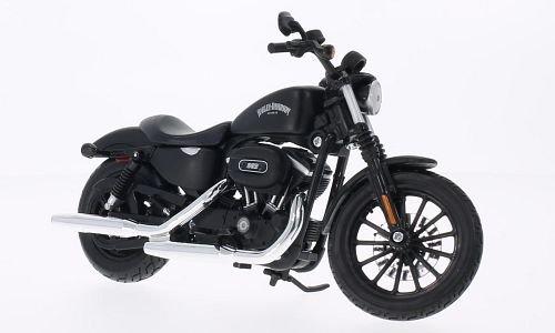 Harley Davidson Sportster Iron 883 , matt-schwarz, 2014, Modellauto, Fertigmodell, Maisto 1:12 (Modell Harley Autos Davidson)