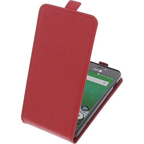 Tasche für Doro 8035 Smartphone Flipstyle Schutz Hülle rot