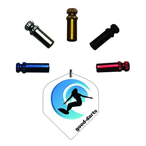 Rocket Dart Flyschutz in Alu (Silber), 5 Sätze (insg. 15 Stück) Protector Set