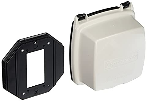 Intermatic WP1020WC Plastic In Use Cover, Double or Single-Gang, White, 2-1/4-Inch Deep