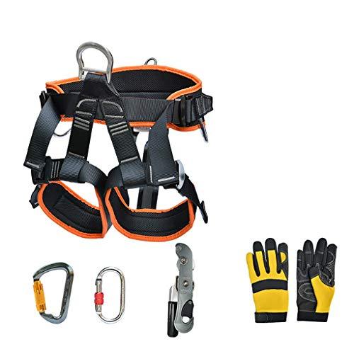 Zlhwzb dispositivo di discesa per attrezzatura esterna attrezzatura per l'arrampicata per arrampicata attrezzatura per sopravvivenza esterna