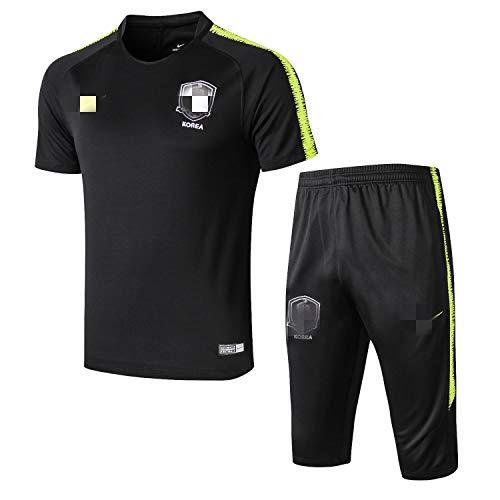 ITPDJKE Tuta da Allenamento per Calcio Uomo Squadra Nazionale Abbigliamento da Calcio Pantaloncini Maniche Corte Tuta Sportiva da Competizione
