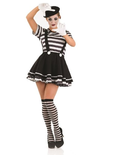 Pantomime - Adult Kostüm - Medium - 40-42 (Mime Kostüme Für Frauen)