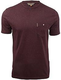 Ben Sherman - T-shirt Homme Manches courtes Uni Poche poitrine
