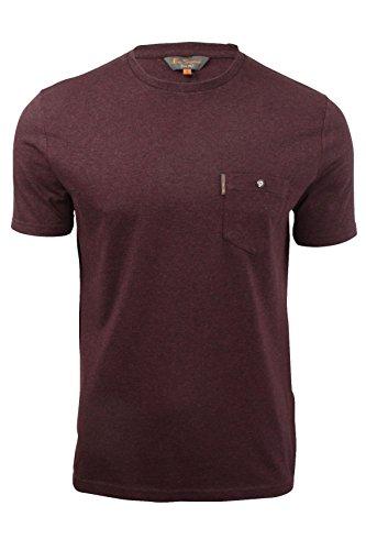 ben-sherman-t-shirt-basic-maniche-corte-uomo-bordeaux-marl-xx-large