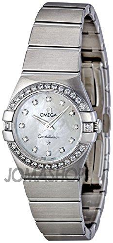 Omega Omega Constelación Madre de Perla Dial Acero Damas Reloj 123.15.24.60.55.001
