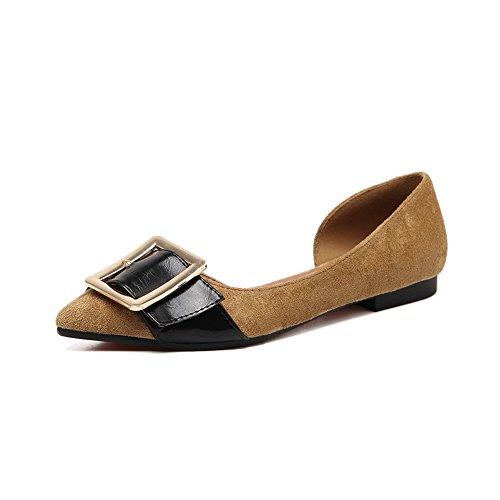 A & Ndiug00032 - Chaussures Fermées Femme Kaki
