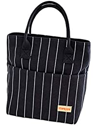 VORCOOL Reusable Lunch Tote Bag For Women Oxford Cloth Waterproof Insulated Lunch Bag Lunch Box Tote Bag Handbag...
