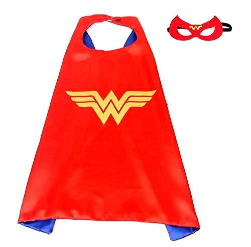House cloud mantello supereroi bambini costume super eroe carnevale bambina colore rosso regali di compleanno visibile al buio wonder woman