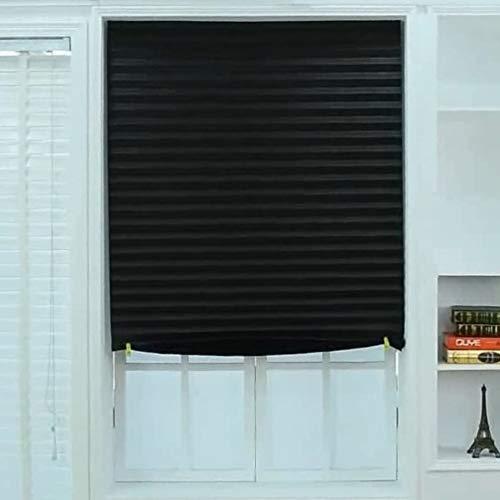 "Festnight Blackout - Persiana Plisada (35\"" x 59), Color Negro, 90 x 150 cm"