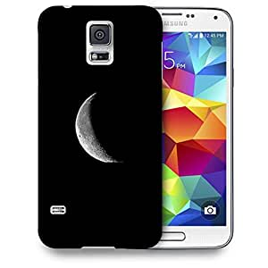 Snoogg Half Moon Printed Protective Phone Back Case Cover For Samsung S5 / S IIIII