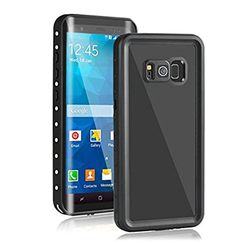 "LESHP Galaxy S8 Case, Waterproof Shockproof Dustproof Snowproof Full-body Protective Screen Protector Case Cover Shell for Samsung Galaxy S8 Case 5.8"" Black (for Samsung S8(white+black))"