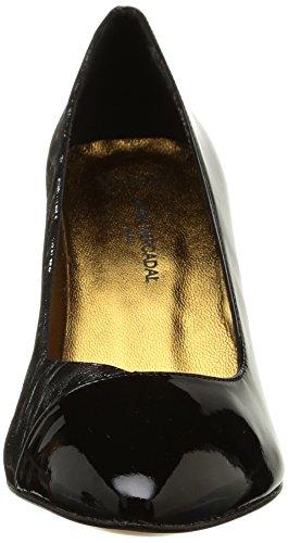 Atelier Mercadal Vintage Vava, Escarpins femme, Multicolore (Charol Negro Pantera Silver), 41 EU Multicolore (Charol Negro Pantera Silver)