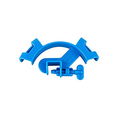 UEETEK Support de tuyau d'eau d'aquarium ajustable Fixation de tube d'eau Fixed Clip Support de réservoir de poisson (bleu)