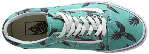 Vans Old Skool, Sneakers Basses mixte adulte Turquoise (Dirty Bird/Turquoise/True White)