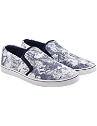 Walk Jump Printed Sneakers, Stylish Canvas Shoes, Slip On Sneakers For Men