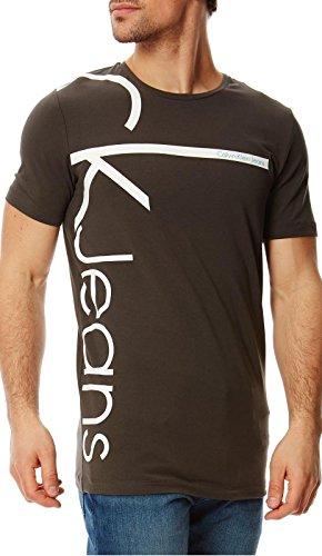 Calvin Klein Jeans - T-Shirt TRIBEC Slim Homme - Manches Courtes - Noir