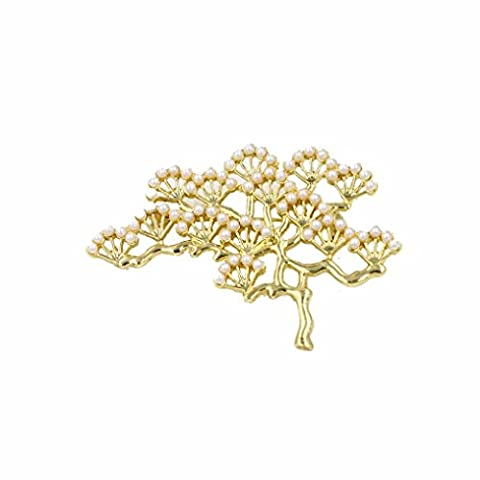 Corsage Brooch Pins,Omiky® 3D Pine Tree Collar Pins Breastpins Jewelry for Wedding Banquet Dinner