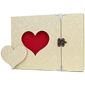 official photos 3fbf5 7bd74 Photo Album DIY Memory Scrapbook Family Handmade Vintage Love Heart A4 Black  Pages Albums for Store Present Anniversary Wedding Guest Book Gift