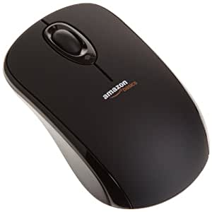 AmazonBasics - Mouse wireless con microricevitore USB 2.0, colore: Nero