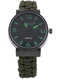 Abeillo Pulsera de reloj multifunción Supervivencia al aire libre del reloj Hombres reloj de pulsera Militar brújula termómetro del reloj Reloj de pulsera de pulsera De guardia contra incendios de arr