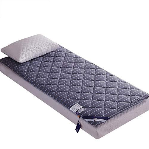 HXYL Verdickt Matratzenschoner Pad Matratzenauflage Allergiker-geeignet Dicke Rutschfeste Tatami Boden Matratzenauflage Einzigen Schlafsaal-A 120x200cm(47x79inch) - Premium-futon-matratze