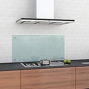 glasshop24 Küchenrückwand/Spritzschutz Satinato Mattglas (HxBxT) 550x700x6mm, inkl. Befestigungsset