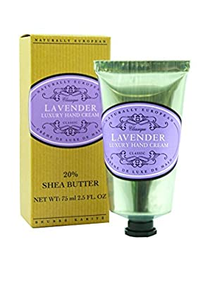 Naturally European Lavender Luxury Hand Cream Boxed 20% Shea Butter 75ml