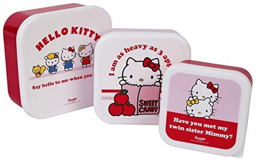 Hello Kitty 3er Set Lunchbox Brotdose Mehrfarbig