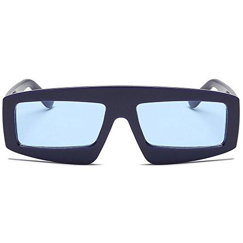 Trendige Sonnenbrille für Frauen Quadratische Kunststoff-Rahmen Große Brille Farblich Passende Sonnenbrille HOOPERT (J)