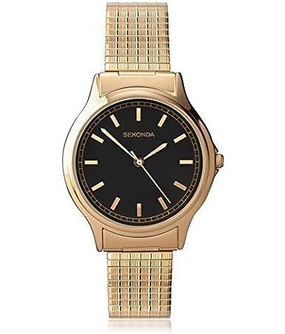 Sekonda 3141B Gents Gold Plated Expander Bracelet Watch